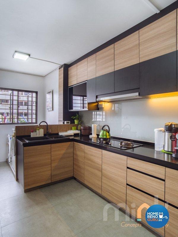 Resort, Scandinavian Design - Kitchen - HDB 4 Room - Design by MINK DESIGN PTE LTD