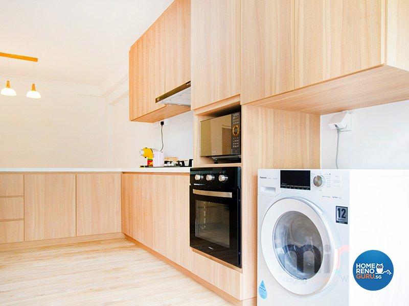 Industrial, Others Design - Kitchen - HDB 4 Room - Design by MINK DESIGN PTE LTD