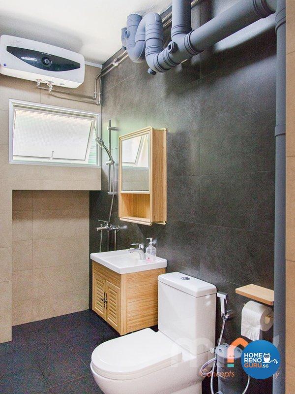 Industrial, Others Design - Bathroom - HDB 4 Room - Design by MINK DESIGN PTE LTD