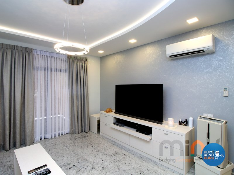 Minimalist, Modern Design - Living Room - Condominium - Design by MINK DESIGN PTE LTD