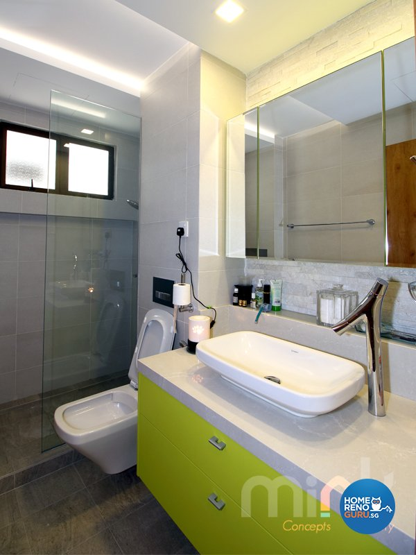 Minimalist, Modern Design - Bathroom - Condominium - Design by MINK DESIGN PTE LTD