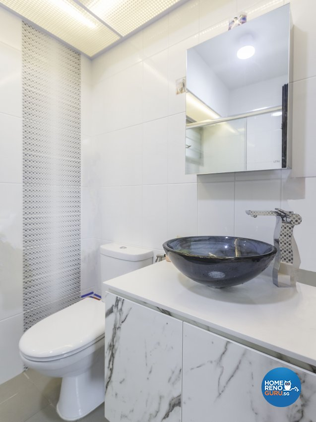 Scandinavian Design - Bathroom - HDB 4 Room - Design by MJS Interior Pte Ltd