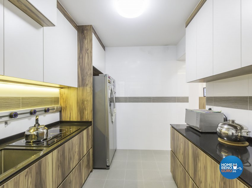Scandinavian Design - Kitchen - HDB 4 Room - Design by MJS Interior Pte Ltd