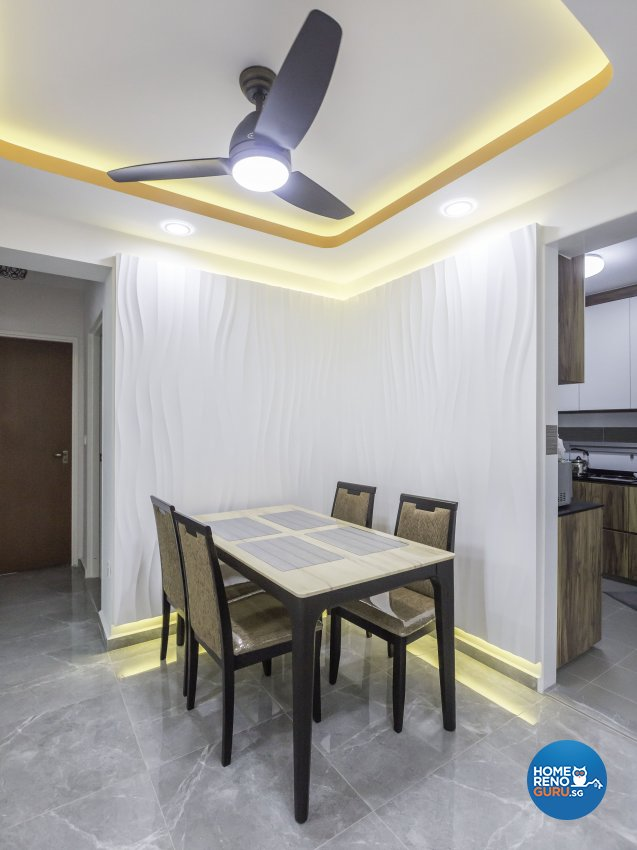 Scandinavian Design - Dining Room - HDB 4 Room - Design by MJS Interior Pte Ltd