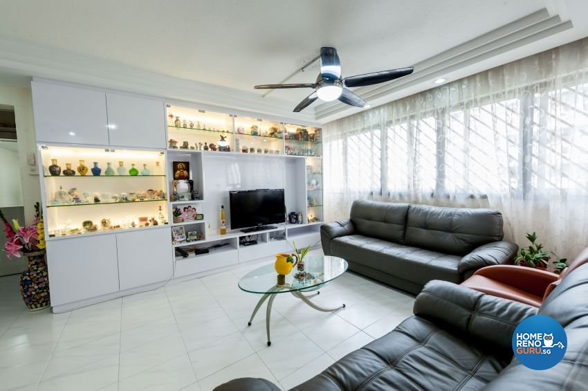 Contemporary, Modern Design - Living Room - HDB 5 Room - Design by MJS Interior Pte Ltd