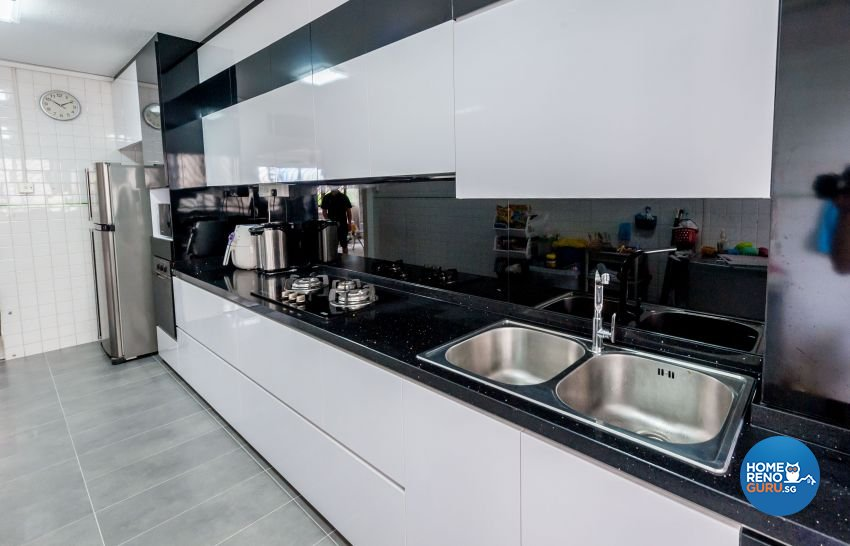 Contemporary, Modern Design - Kitchen - HDB 5 Room - Design by MJS Interior Pte Ltd