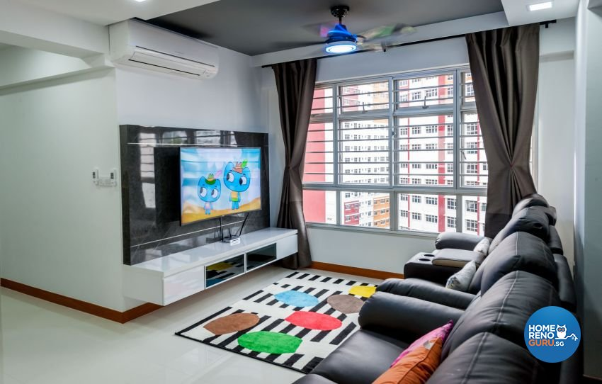 Contemporary, Modern Design - Living Room - HDB 4 Room - Design by MJS Interior Pte Ltd