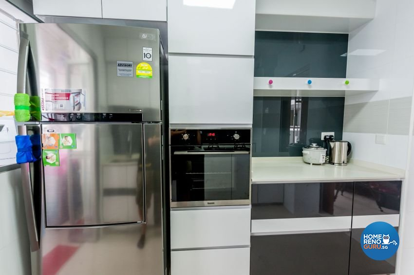 Contemporary, Modern Design - Kitchen - HDB 4 Room - Design by MJS Interior Pte Ltd