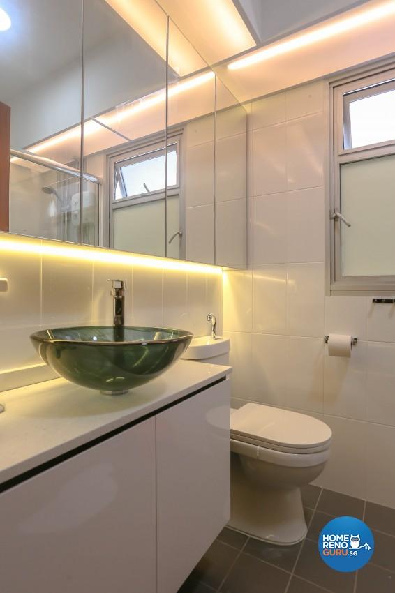 Modern, Resort Design - Bathroom - HDB 5 Room - Design by MJS Interior Pte Ltd