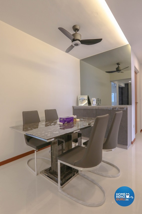 Modern, Resort Design - Dining Room - HDB 5 Room - Design by MJS Interior Pte Ltd