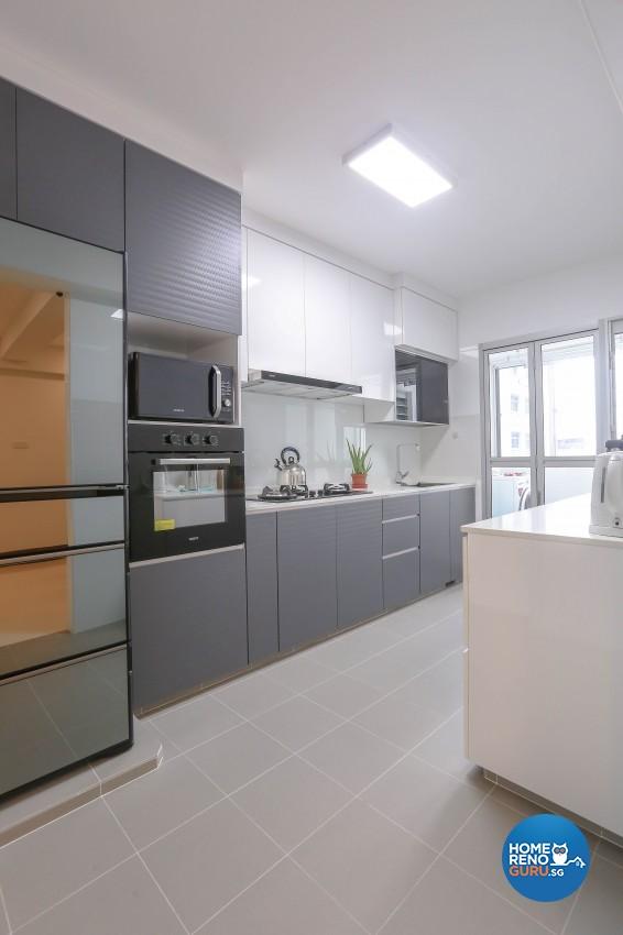 Modern, Resort Design - Kitchen - HDB 5 Room - Design by MJS Interior Pte Ltd
