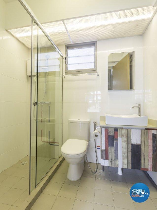 Modern Design - Bathroom - HDB 4 Room - Design by MJS Interior Pte Ltd