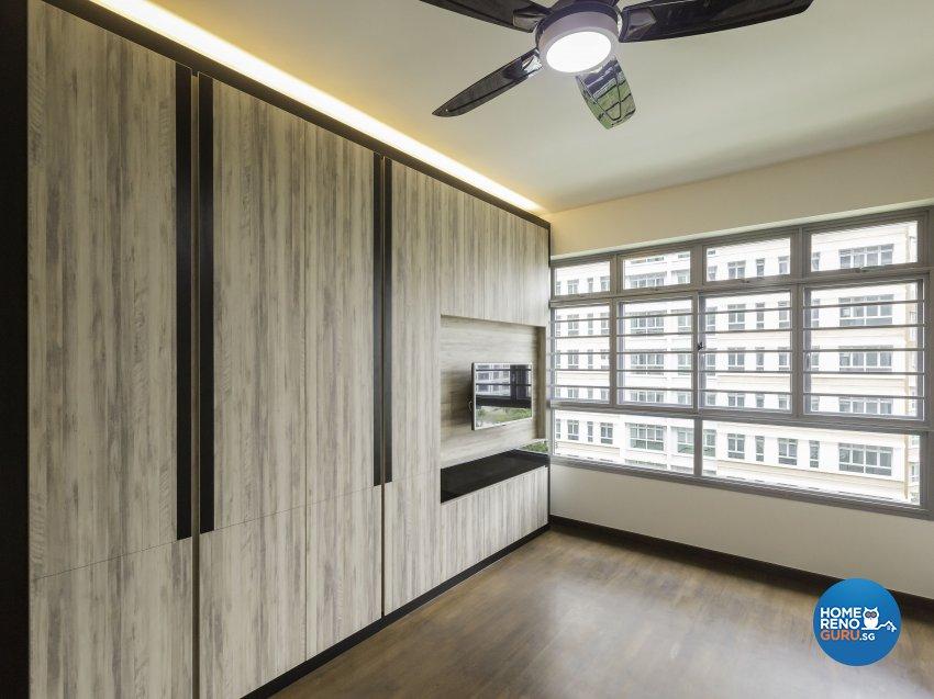 Modern Design - Bedroom - HDB 4 Room - Design by MJS Interior Pte Ltd