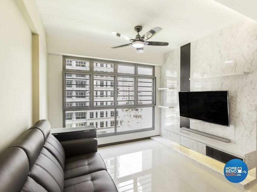 Modern Design - Living Room - HDB 4 Room - Design by MJS Interior Pte Ltd