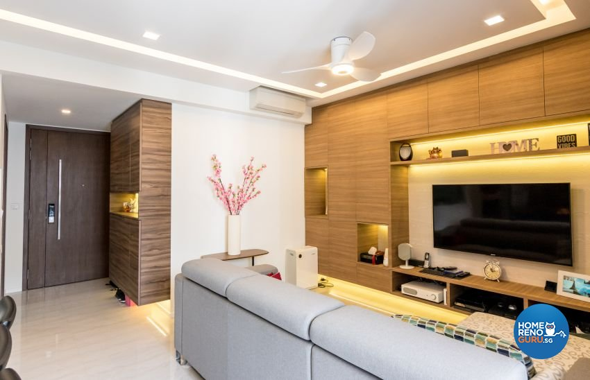 Modern, Scandinavian Design - Living Room - Condominium - Design by MJS Interior Pte Ltd