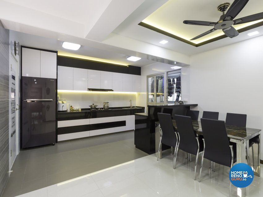 Classical, Modern Design - Dining Room - HDB 5 Room - Design by MJS Interior Pte Ltd