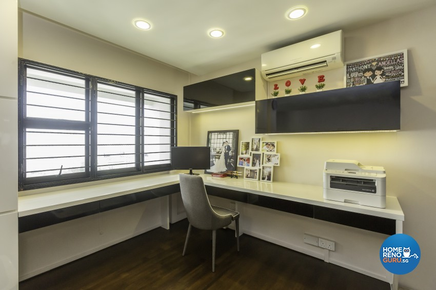Classical, Modern Design - Study Room - HDB 5 Room - Design by MJS Interior Pte Ltd