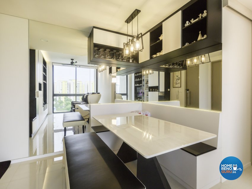 Contemporary, Modern Design - Dining Room - Condominium - Design by MJS Interior Pte Ltd
