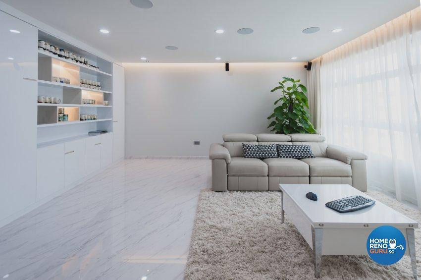 Contemporary, Modern Design - Living Room - HDB 5 Room - Design by MMJ DESIGN LOFT PTE LTD