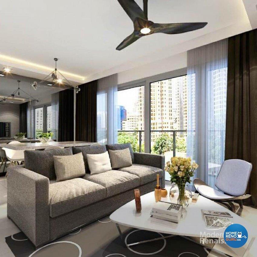 Contemporary, Modern Design - Living Room - Condominium - Design by Modern Haus Renaissance Pte Ltd