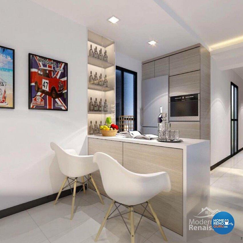 Contemporary, Modern Design - Dining Room - Condominium - Design by Modern Haus Renaissance Pte Ltd