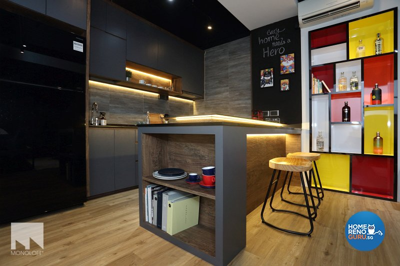 Industrial, Scandinavian Design - Kitchen - Office - Design by MONOLOFT