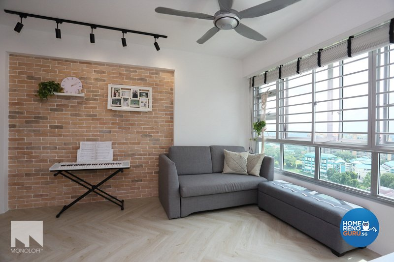 Country, Scandinavian Design - Living Room - HDB 3 Room - Design by MONOLOFT