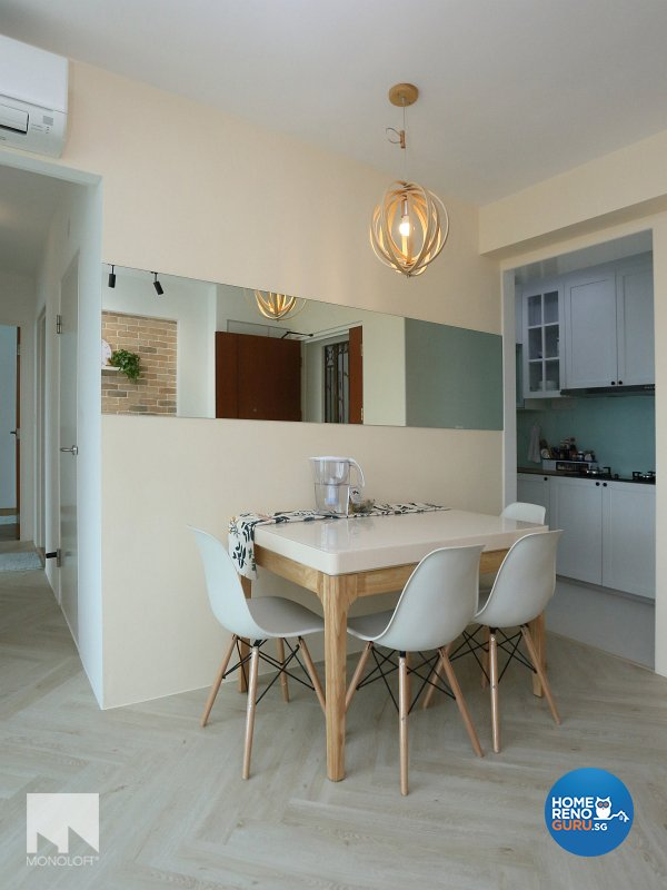 Country, Scandinavian Design - Dining Room - HDB 3 Room - Design by MONOLOFT