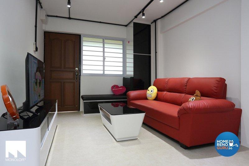 Industrial, Modern Design   Living Room   HDB 3 Room   Design By MONOLOFT