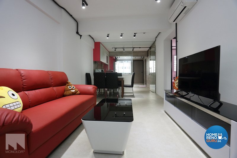 Industrial, Modern Design - Living Room - HDB 3 Room - Design by MONOLOFT
