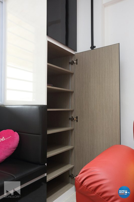 Industrial, Modern Design - Living Room - HDB 3 Room - Design by MONOLOFT