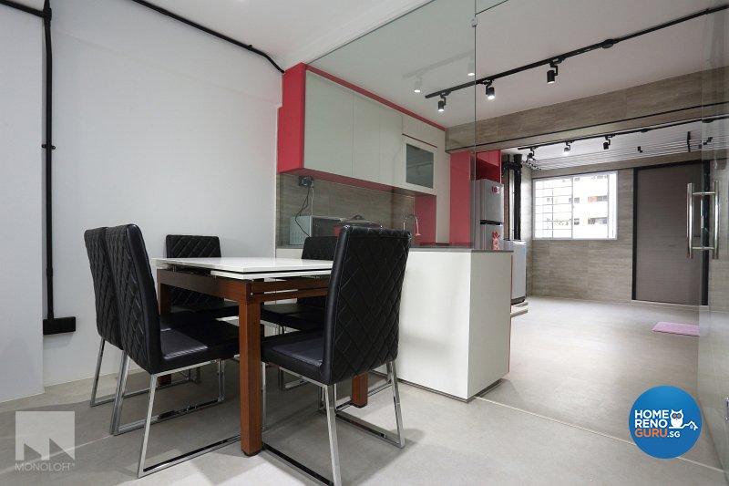 Industrial, Modern Design - Dining Room - HDB 3 Room - Design by MONOLOFT