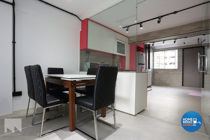 Industrial, Modern Design - Dining Room - HDB 3 Room - Design by MONOLOFT