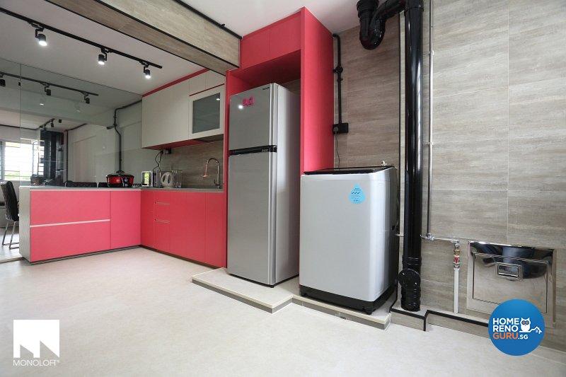 Industrial, Modern Design - Kitchen - HDB 3 Room - Design by MONOLOFT