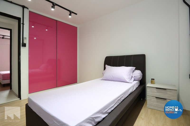 Industrial, Modern Design - Bedroom - HDB 3 Room - Design by MONOLOFT