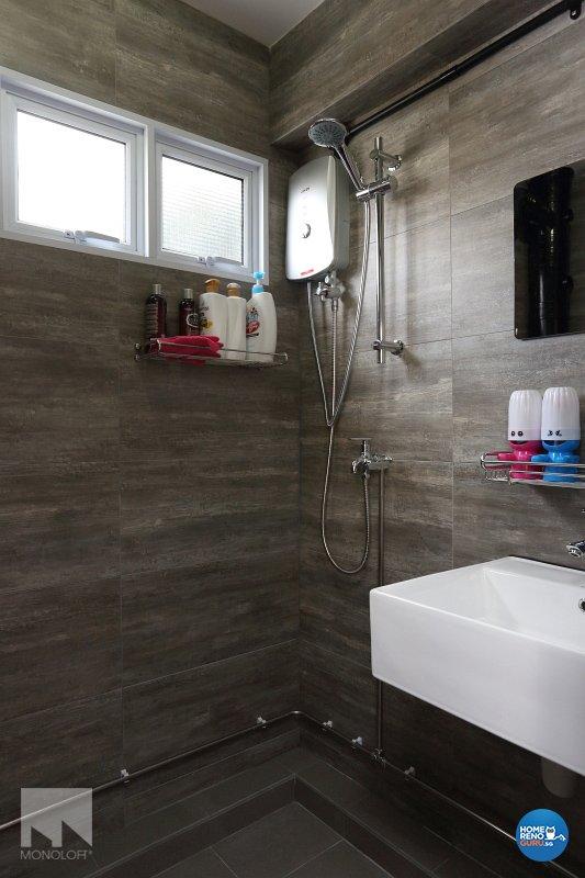 Industrial, Modern Design - Bathroom - HDB 3 Room - Design by MONOLOFT