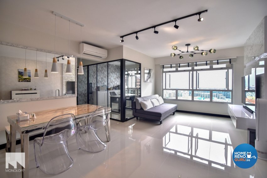 Minimalist Design - Living Room - HDB 4 Room - Design by MONOLOFT