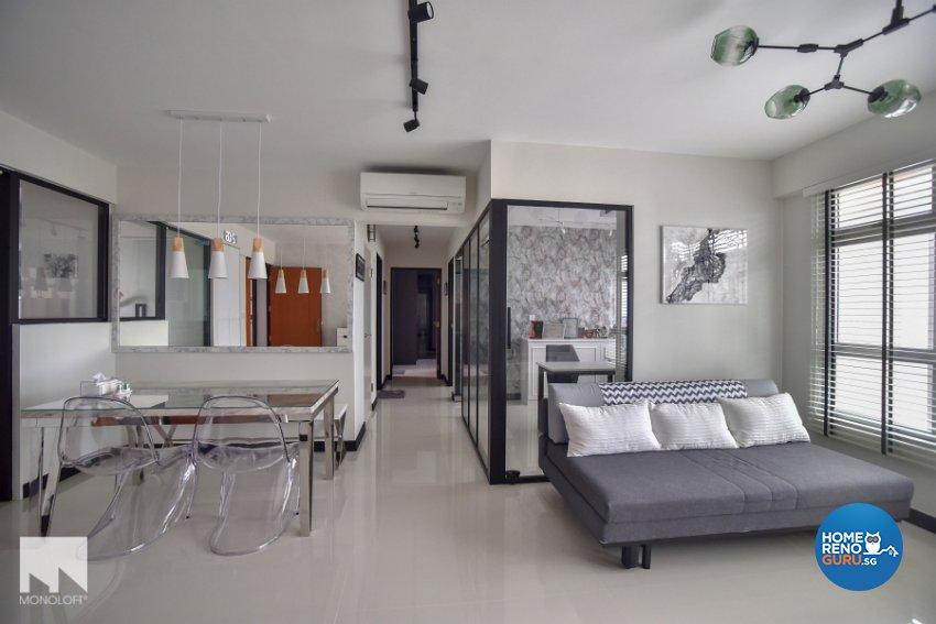 Minimalist Design - Living Room - HDB 4 Room - Design by MONOLOFT
