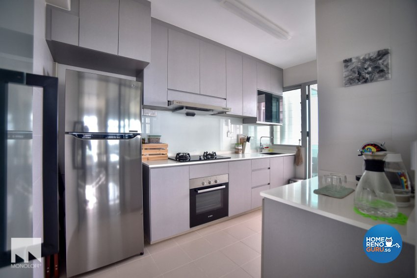 Minimalist Design - Kitchen - HDB 4 Room - Design by MONOLOFT