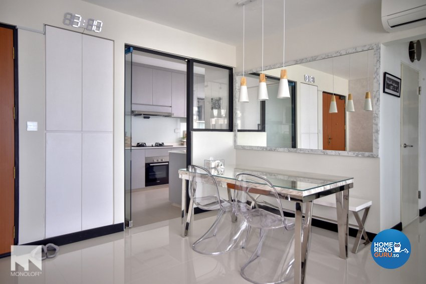 Minimalist Design - Dining Room - HDB 4 Room - Design by MONOLOFT