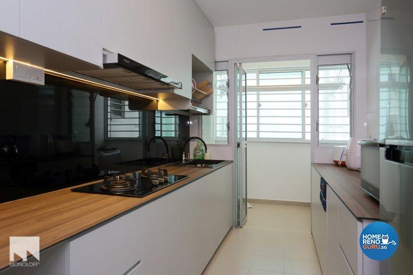Contemporary, Minimalist Design - Kitchen - HDB 4 Room - Design by MONOLOFT