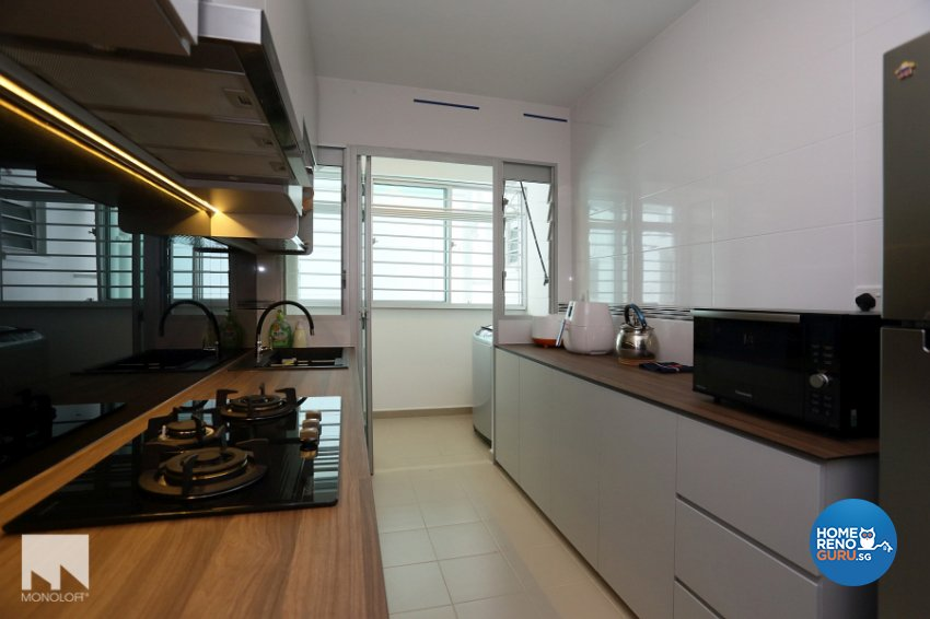 Contemporary, Minimalist Design - Kitchen - HDB 4 Room - Design by MONOLOFT