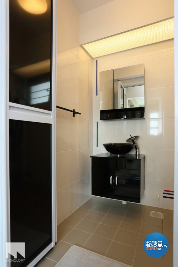 Contemporary, Minimalist Design - Bathroom - HDB 4 Room - Design by MONOLOFT