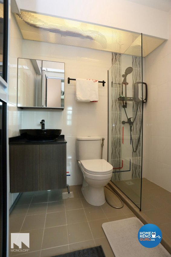 Contemporary, Minimalist Design - Bathroom - HDB 4 Room - Design by MONOLOFT