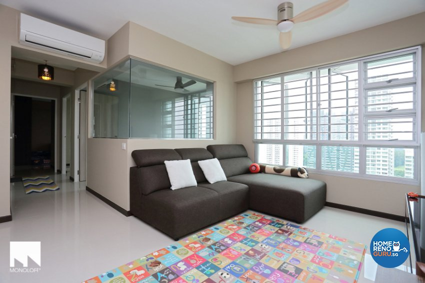 Contemporary, Minimalist Design - Living Room - HDB 4 Room - Design by MONOLOFT