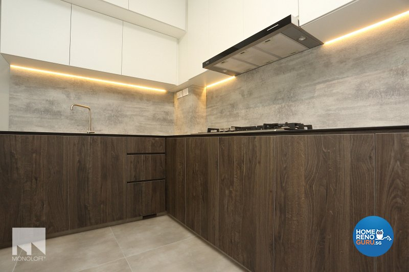 Scandinavian Design - Kitchen - HDB Executive Apartment - Design by MONOLOFT