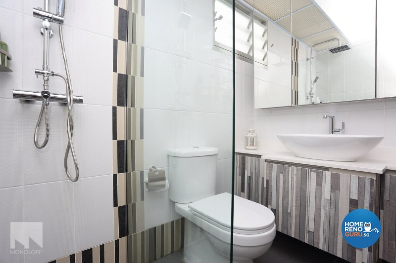 Scandinavian Design - Bathroom - HDB 4 Room - Design by MONOLOFT