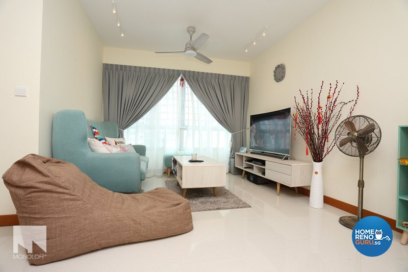 Scandinavian Design - Living Room - HDB 4 Room - Design by MONOLOFT