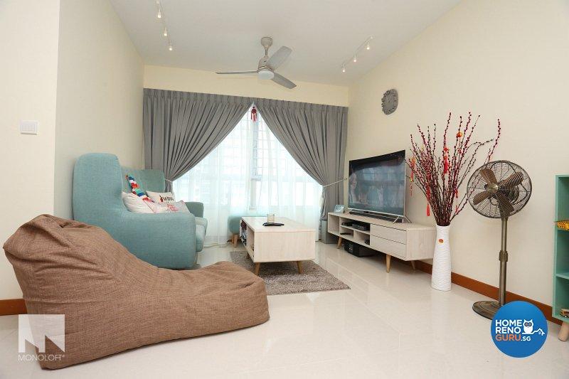Scandinavian Design - Living Room - HDB 4 Room - Design by MONOLOFT