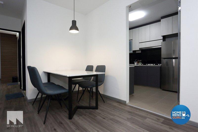 Minimalist, Scandinavian Design - Dining Room - HDB 4 Room - Design by MONOLOFT